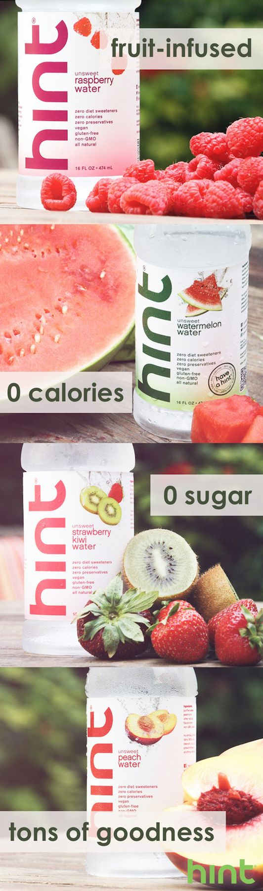 the formula of a delicious & healthy drink. all-natural water with a splash of your favorite fruit. take 10% off your first order with promo code PIN10. ends 12/31/15.
