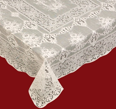 Round, Rectangular And Oval Cotton Lace Tablecloths. Washable And Durable.  These Are Fine Classical Victorian Styled Tablecloths Imported From  Scotland.