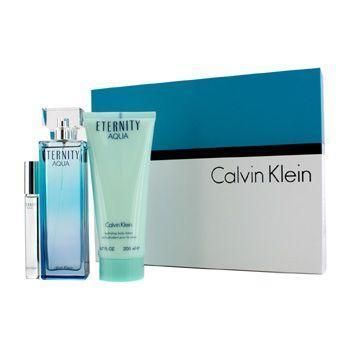 Eternity Aqua Coffret: Eau De Parfum Spray 100ml-3.4oz + Body Lotion 200ml-6.7oz + Eau De Parfum Rollerball 10ml-0.33oz - 3pcs