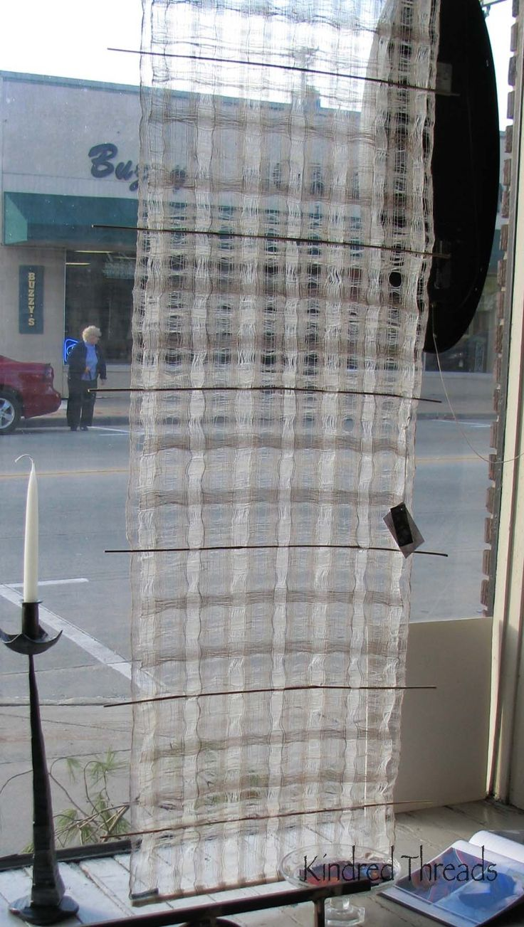 Window transparency silk linen and stainless by kindredthreads, $335.00