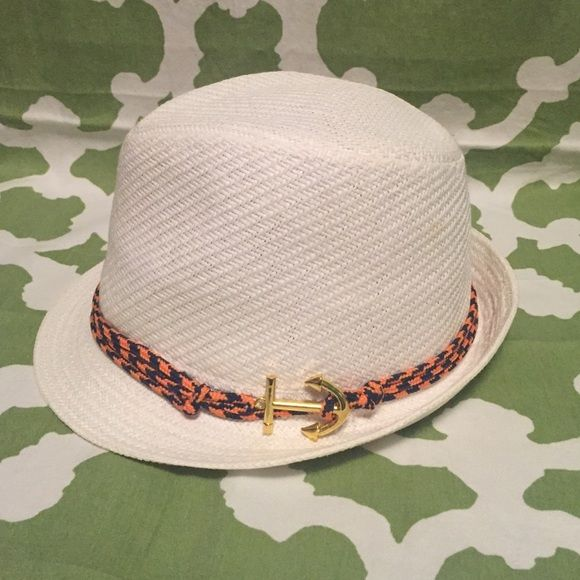 White Fedora Hat Never worn out. Can be paired with a cute outfit! Tiny stains but not noticeable in person at all. Charming Charlie Accessories Hats