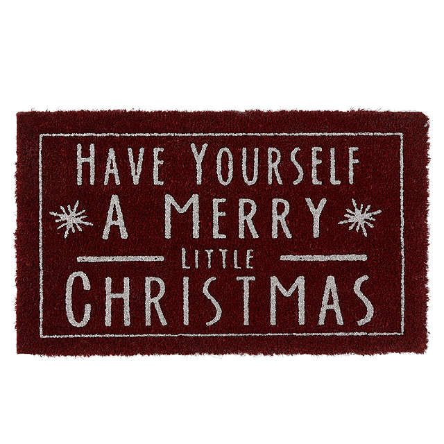 BuyJohn Lewis Merry Christmas Glitter Door Mat, Red Online at johnlewis.com