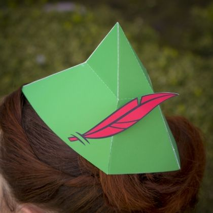 Great source for printables. You'll feel like the leader of the Lost Boys when you craft your own Peter Pan-inspired cap.