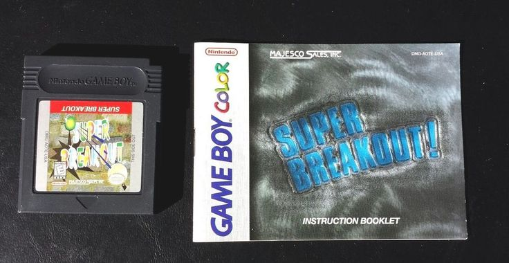 Gameboy Color Game Plays GBC GBA SP SUPER BREAKOUT + Manual 78 Classic Arcade
