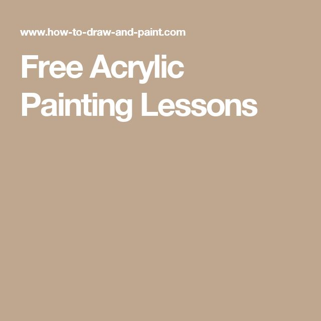 Free Acrylic Painting Lessons