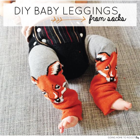 DIY baby leggings - from socks!. These look so adorable! @Bonnie Christine #goinghometoroost