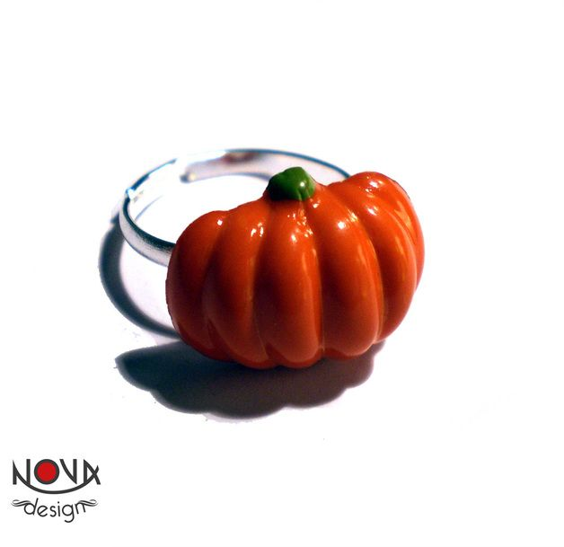 halloween in dawanda Rings – *Ring* Halloween Pumpkin – a unique product by novadesign on DaWanda
