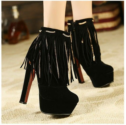 wholesale Ankle boots for women new style tassel fashion shoes CZ-4860