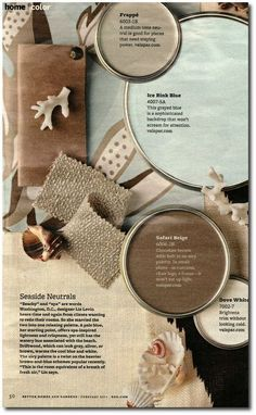 Better Home And Gardens Featured Paint Shades. I love these relaxing colors for my bedroom.