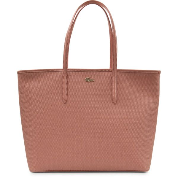 Lacoste Medium Chantaco zip tote ($208) ❤ liked on Polyvore