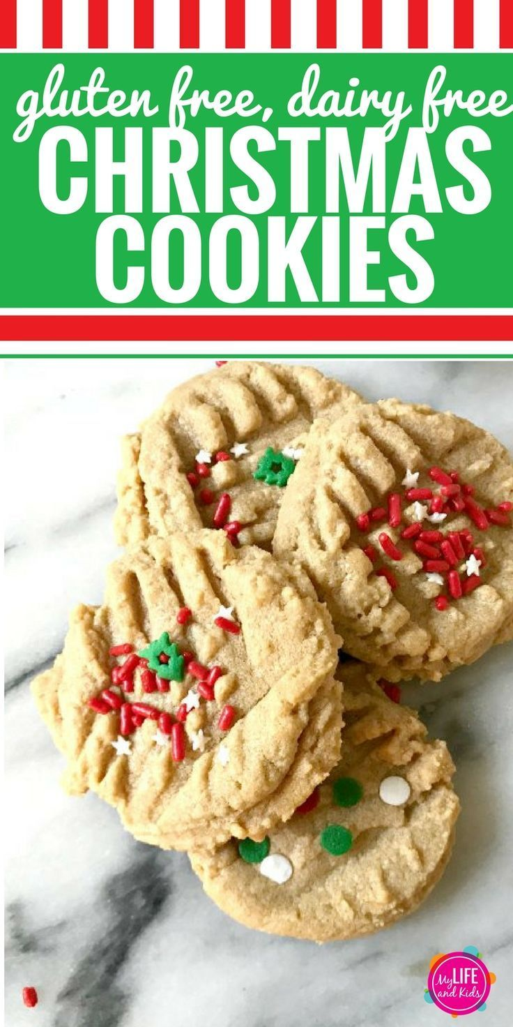 Dairy Free Gluten Free Peanut Butter Christmas Cookies My Life