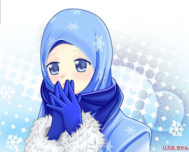 Gambar Anime Hijab Lucu - Gambar Anime Keren