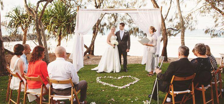 Intimate hidden grove wedding