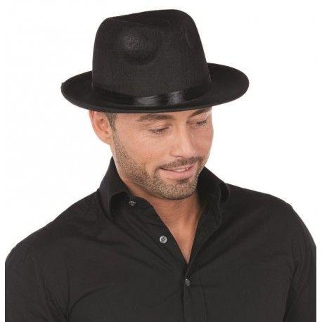 Chapeau borsalino noir adulte