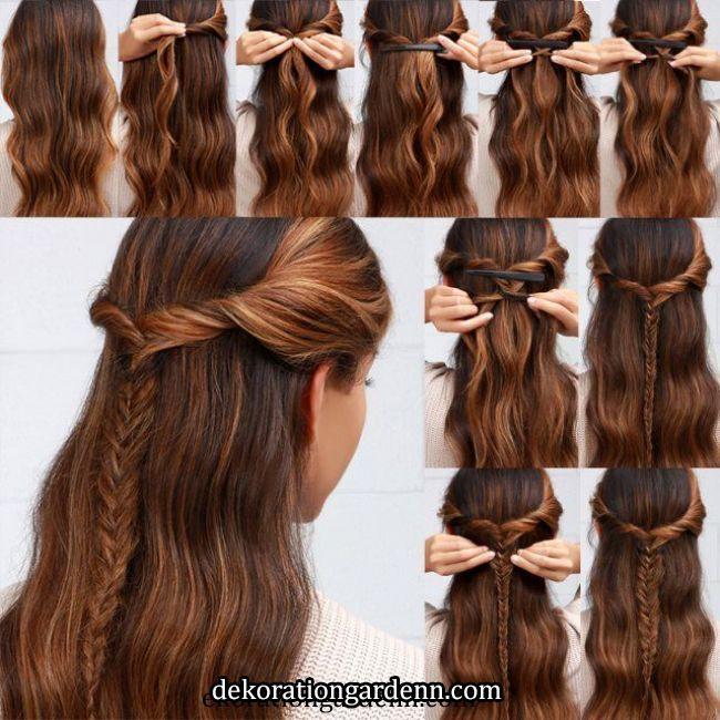 45 Schone Schnelle Und Einfache Frisuren In 2 Minuten Fur Die Arbeit Oder Die Schule Easy Hairstyles Hair Styles Easy Hairstyles For School Haar Styling Haar Ideen Fur Die Schule Schnelle Frisuren