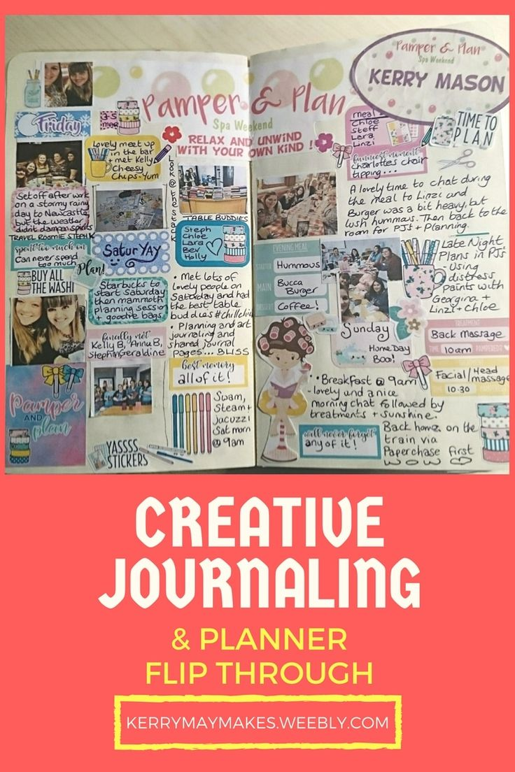 Creative Journaling and Planner Flip Through of the Pamper and Plan weekend - Kerrymay._.Makes #creativejournal #memorykeeping #smashbook