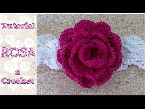 Aprende a preparar una rosa a ganchillo - YouTube