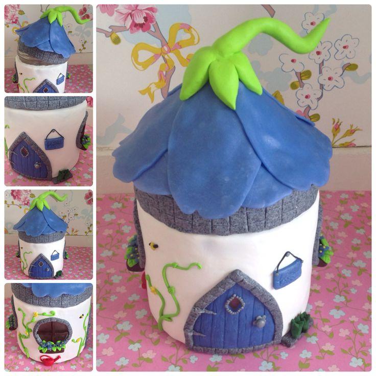 Flower fairyhouse jar made by www.facebook.com/sweetstuffwebshop