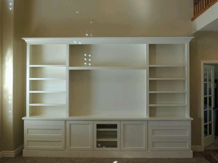 Large Cream Colored Entertainment Center For The Home