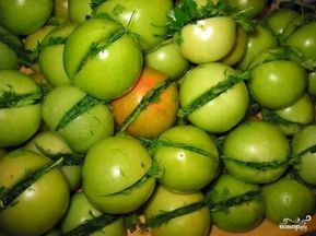 Зеленые помидоры по-грузински