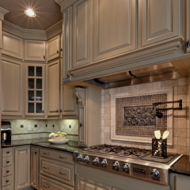 Colored cabinets, Custom kitchens and Cabinet colors on Pinterest