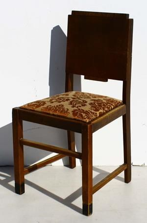 Condition:  Used  Vintage Art Deco Dining Room Chair 450 L x 410 W x 880 H @R700 Call 0767064700 www.furnicape.co.za  0331