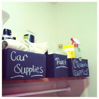 Simple & Chic Designs : diy:chalkboard paint shoe box storage!