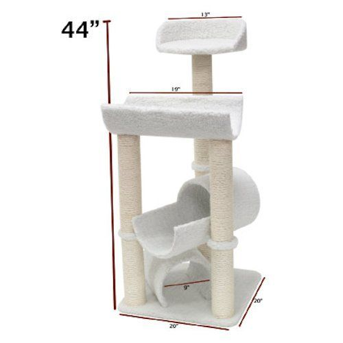 RadioFence.com - 44 Inch Bungalow Cat Tree, $89.95 plus FREE SHIPPING! #cats #catpost #scratchingpost #catscratch #cattoy #radiofence #cattree  (http://www.radiofence.com/44-inch-bungalow-cat-tree/)