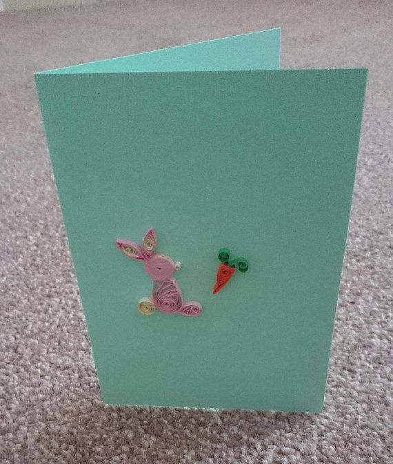 Easter Card: Personalised Handmade Quilled Greeting by BavsCrafts