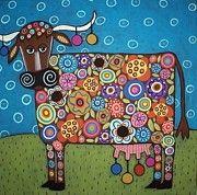 """tableau : """"Blooming cow"""" Karla Gérard"""