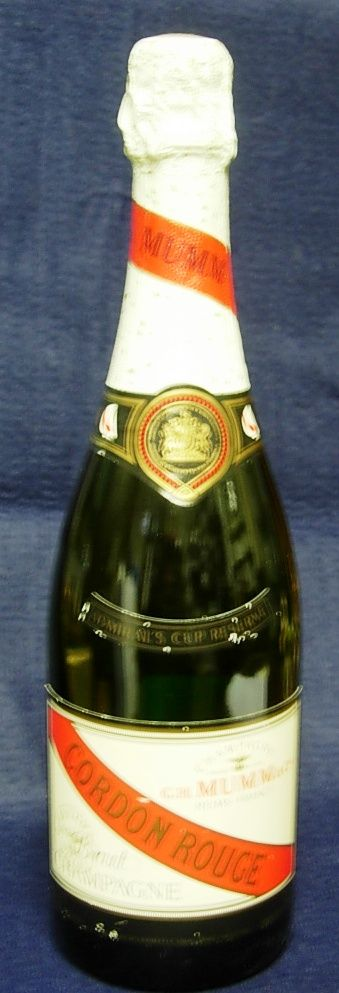 Vintage 'Admirals Cup' Spercial Reserve Mumm Champagne Full Bottle