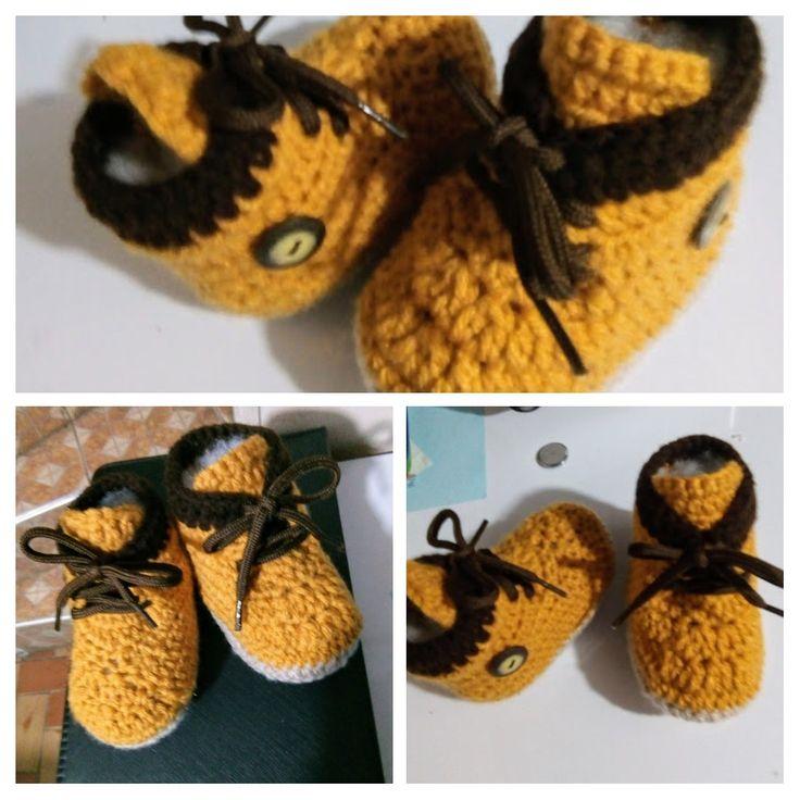 Zapatos niño, tejido a crochet