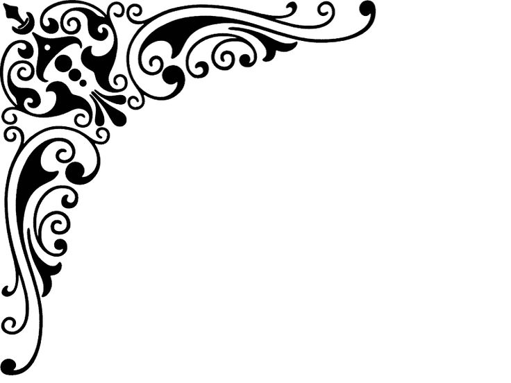 Decorative caligraphic  corner 2