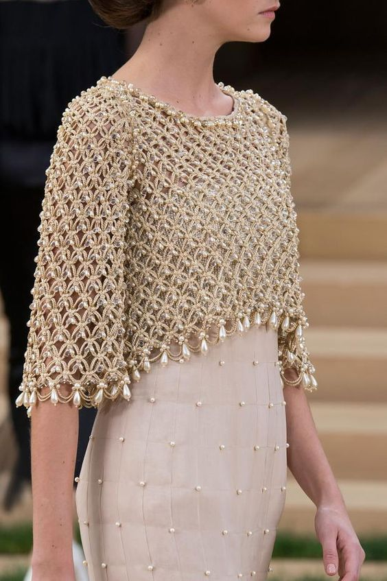 Intricate, Delicate Beading at Chanel #Chanel