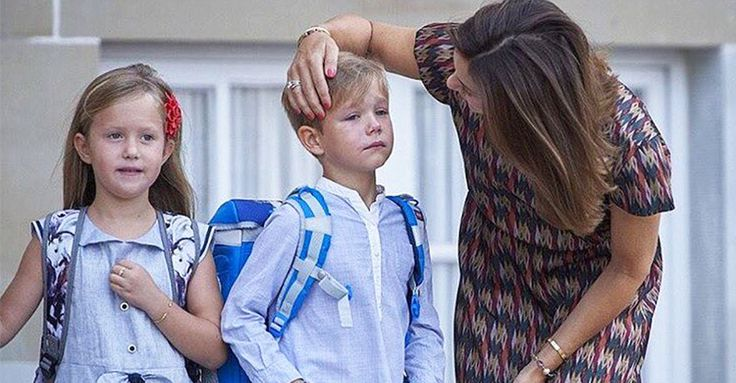 Magical Princess Mary cuddles away her son's royal first day of school tears #RoyalFamily, #School