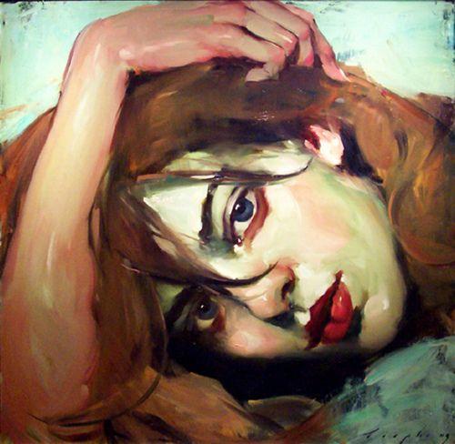Malcolm T. Liepke - Sideways Glance  Love the color