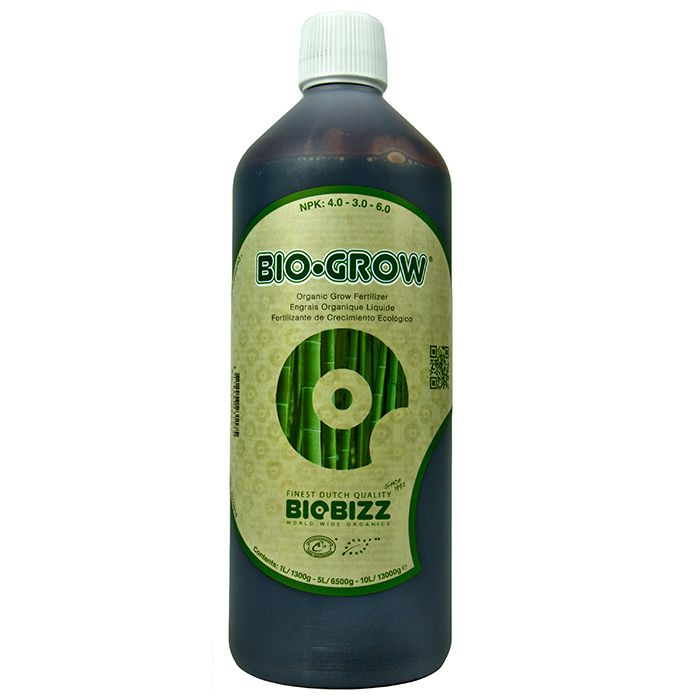 BioBizz Bio-Grow:  BioBizz Bio-Grow is an all organic growth promoter made from 100% Dutch sugar beet extract. This potent growth formula is a complete fertiliser solution containing everything your plants need. Enriched with 70 trace elements, natural sugars, humic acids, kelp, and vitamins B1, B2, C and E; Bio Grow is one of the best organic growth promoters out there.