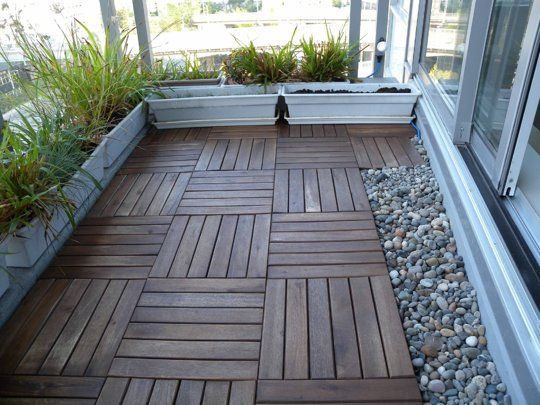7 best images about balcony on pinterest wood tiles for Balcony flooring options
