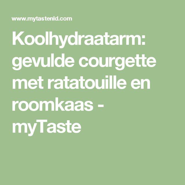 Koolhydraatarm: gevulde courgette met ratatouille en roomkaas - myTaste