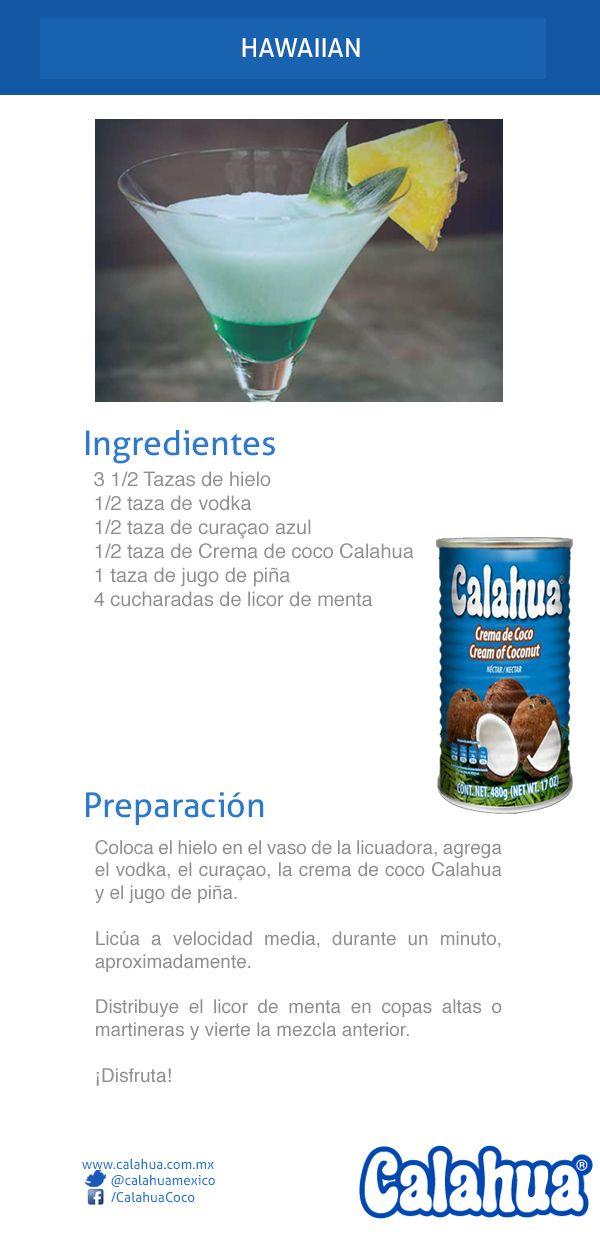 ¡Aloha! este es un gran trago: Hawaiian hecho con curaçao y crema de coco #Calahua.