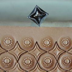 Leather Stamping Tool - 4 Point Star Geometric Stamp