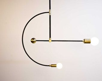 Miró - chandelier en laiton - Mid century modern
