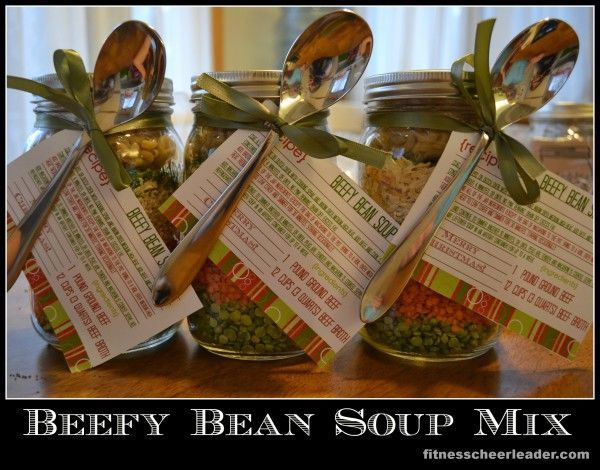 Beefy Bean Soup Mix in a Jar: A Fabulous (Healthy) Gift for Teachers
