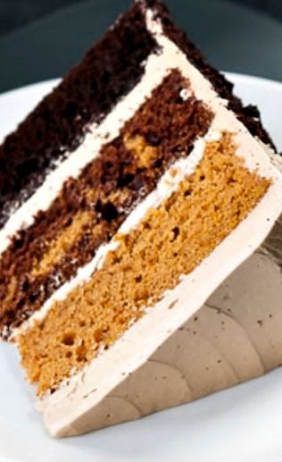Butterscotch Pumpkin Chocolate Cake...with a creamy and delicious butterscotch frosting!