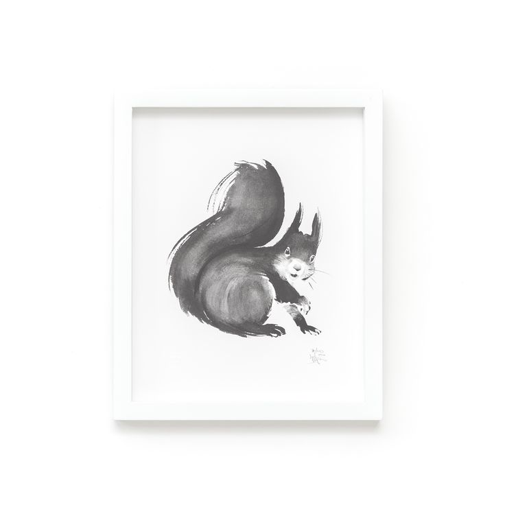 Squirrel Fine Art Print on Paper Teemu Järvi Illustrations http://www.teemujarvi.com/en/shop/paper-prints/78-squirrel.html
