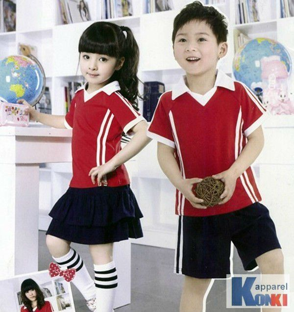 kids school uniform/ primary children sports wear/hight quality children sports suit