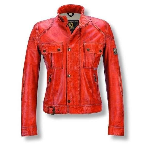 Reviews: Belstaff Jacket Hyea Lady Orange Now Leather motorcycle ...