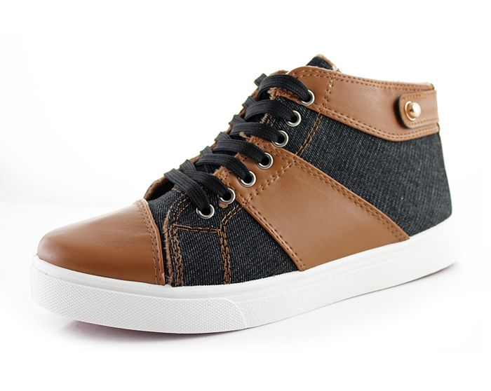 Fashion Men's Casual Shoes With Splicing and Lace-Up Design   Sammydress.com