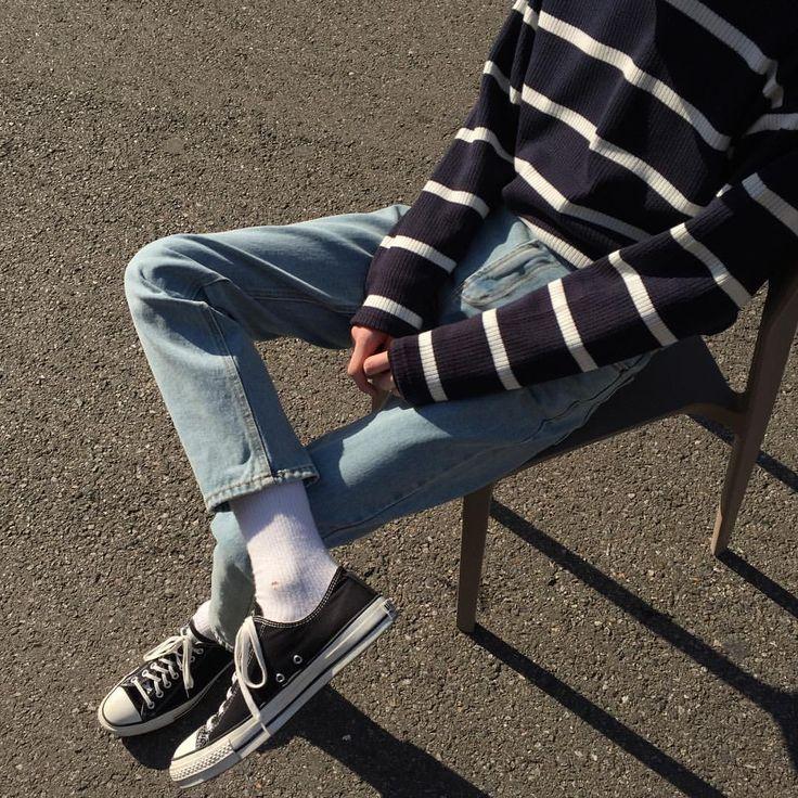 깔끔✨ Top - Charles Pola Tee Bottom - American Denim Pants #hififnk #하이파이펑크