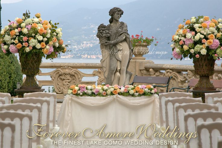 Wedding ceremony at Villa Balbianello, Canfora Terrace. Picture by Roland Koller ©